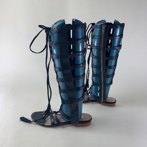 Candela black drogo gladiator sandals 6.5